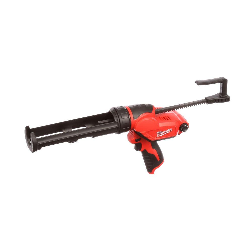 milwaukee m12 12 volt lithium ion cordless 10 oz caulk and adhesive gun tool only 2441 20. Black Bedroom Furniture Sets. Home Design Ideas