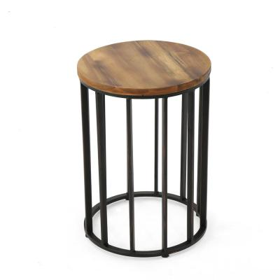 Canary Natural Wood Outdoor Accent Table
