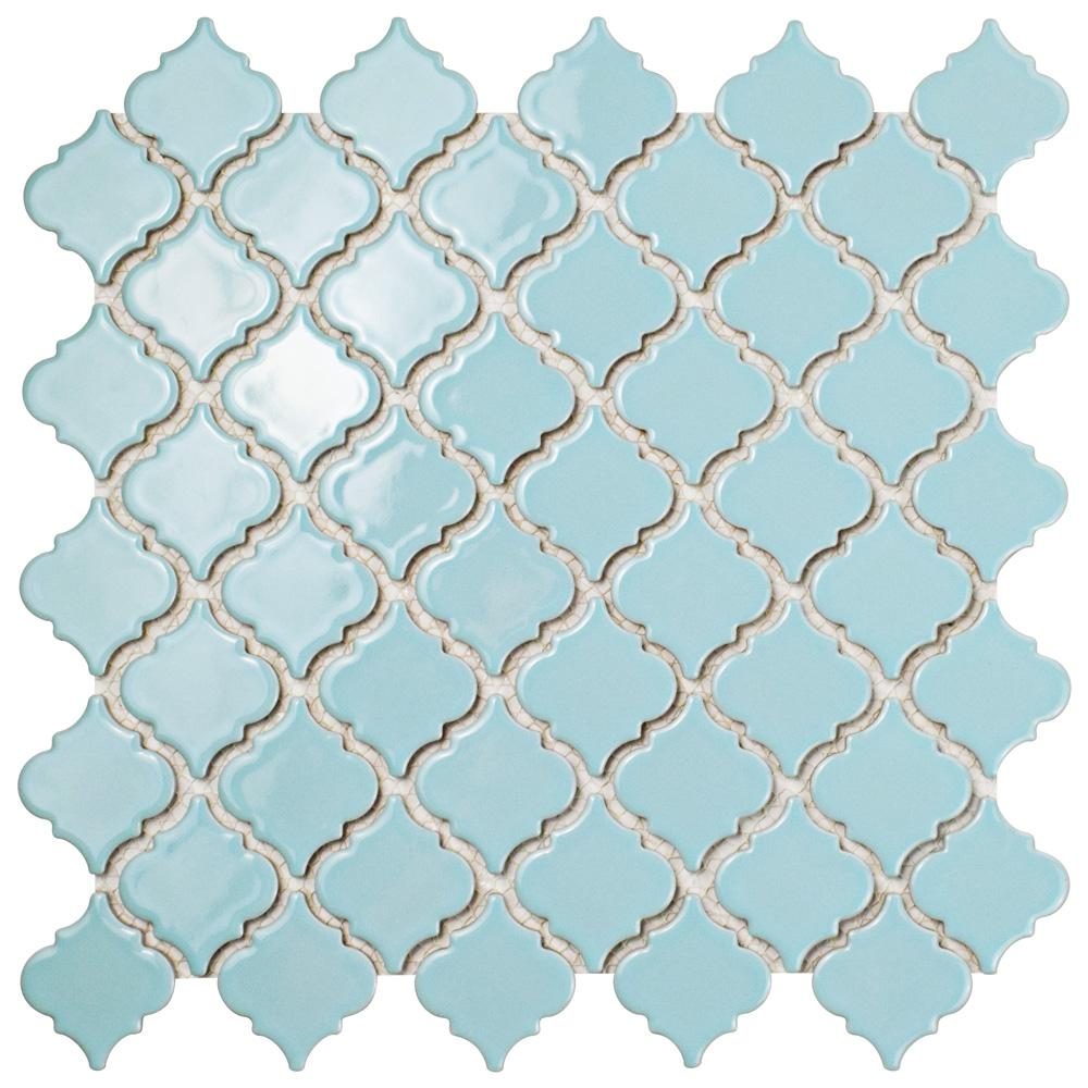 Merola Tile Hudson Tangier Cashmere Blue 12-3/8 in. x 12-1/2 in. x 5 ...