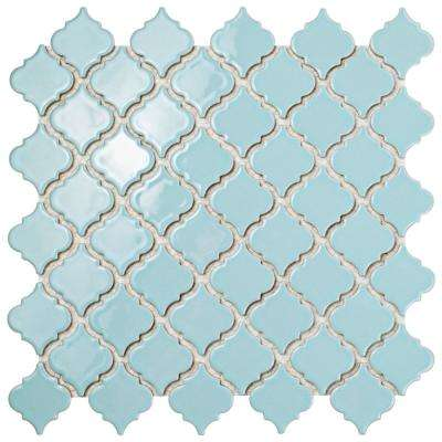 Hudson Tangier Cashmere Blue 12-3/8 in. x 12-1/2 in. x 5 mm Porcelain Mosaic Tile