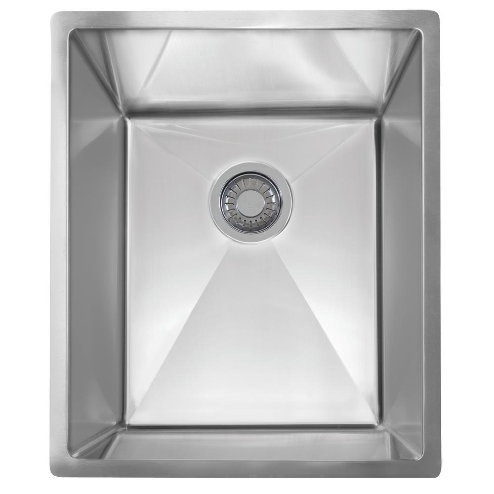 Planar 8 Undermount Stainless Steel 15.5 in. x 18.5 in. Single Bowl Kitchen Sink