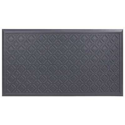 Fairmont Tiles Gray 20 in. x 36 in. Comfort Door Mat