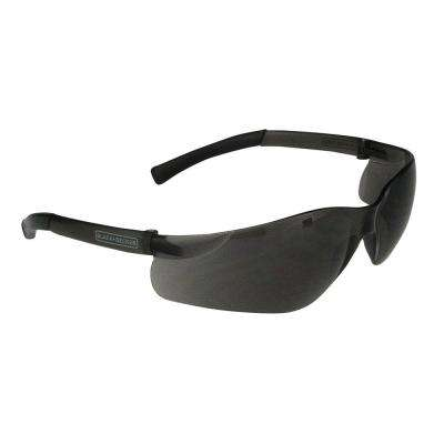 Smoke Lens and Temples Small Frameless Safety Glasses