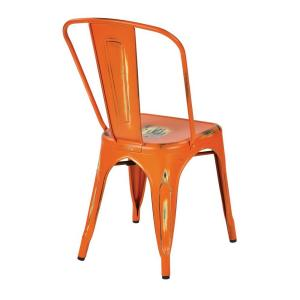 Merveilleux +2. OSP Designs Bristow Antique Orange Metal Side Chair ...
