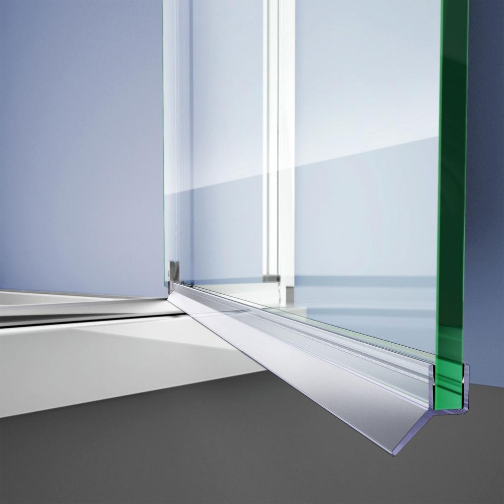 Dreamline 29 3 8 In L Clear Bottom Sweep Vinyl For 1 4 In Glass Shower Door 63021060 0746 The Home Depot