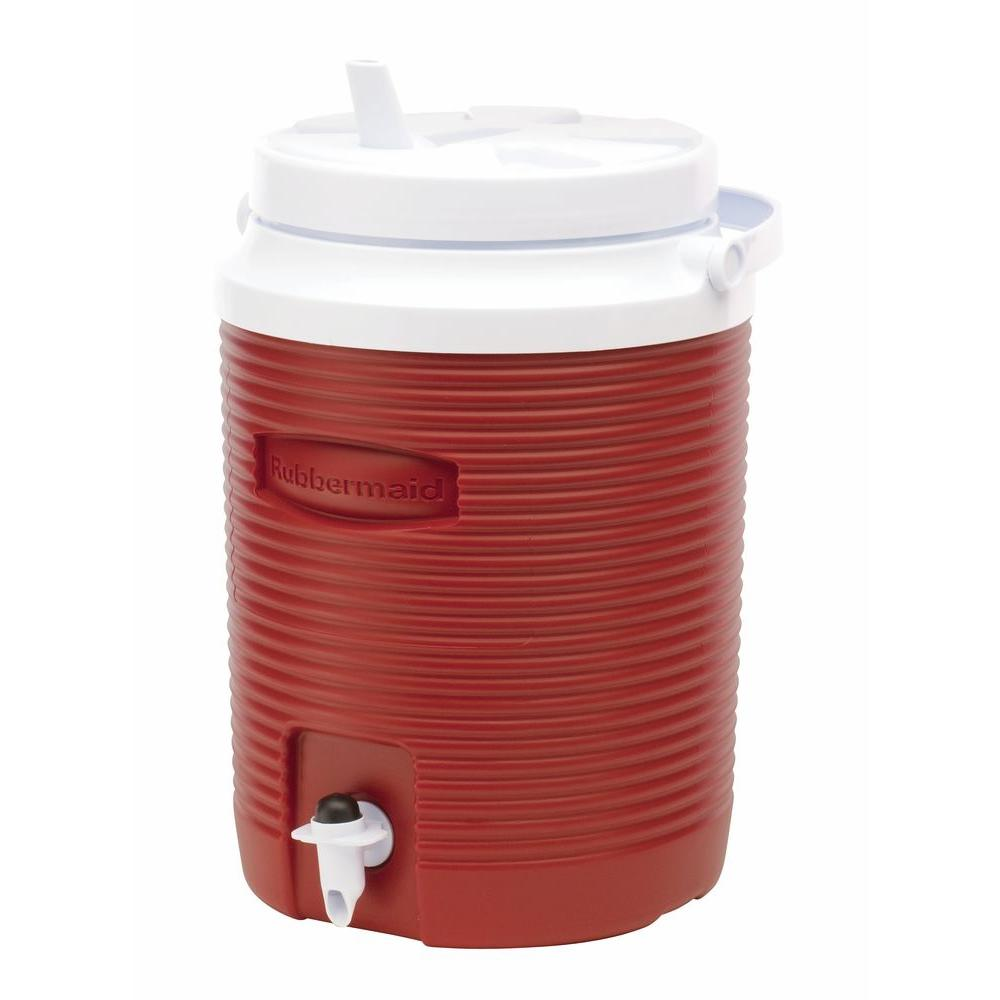 2bbb428cff Rubbermaid Victory 2 Gal. Red Cooler-FG153004MODRD - The Home Depot