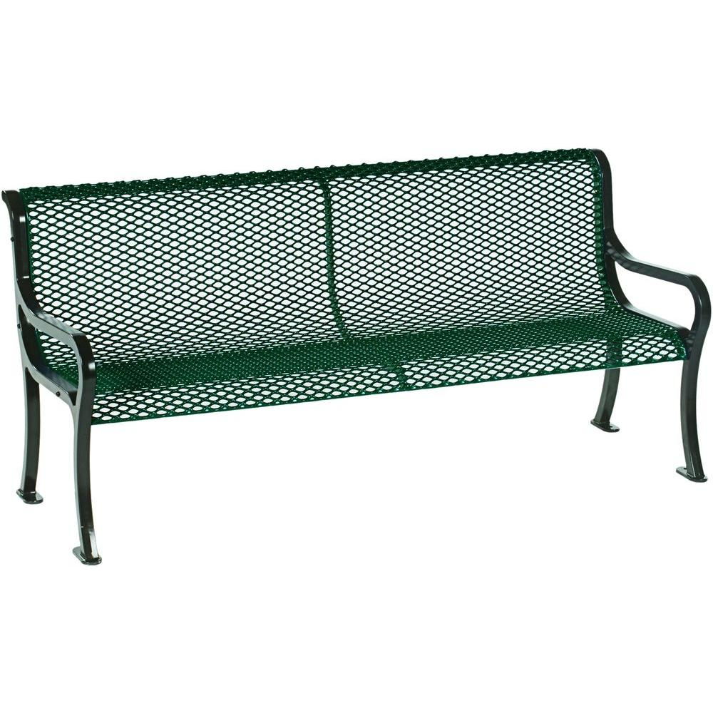 Symphony 6 ft. Green Commercial Bench