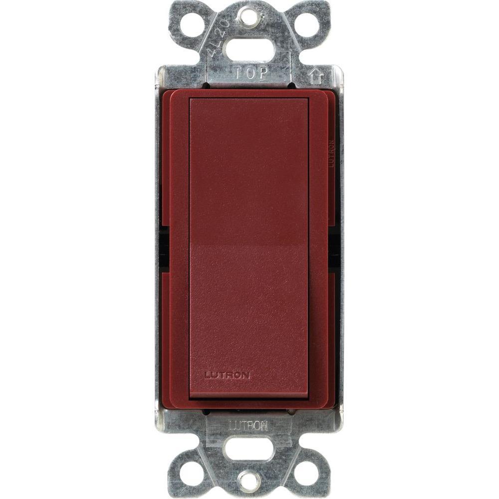 Claro On/Off Switch, 15-Amp, Single-Pole, Merlot