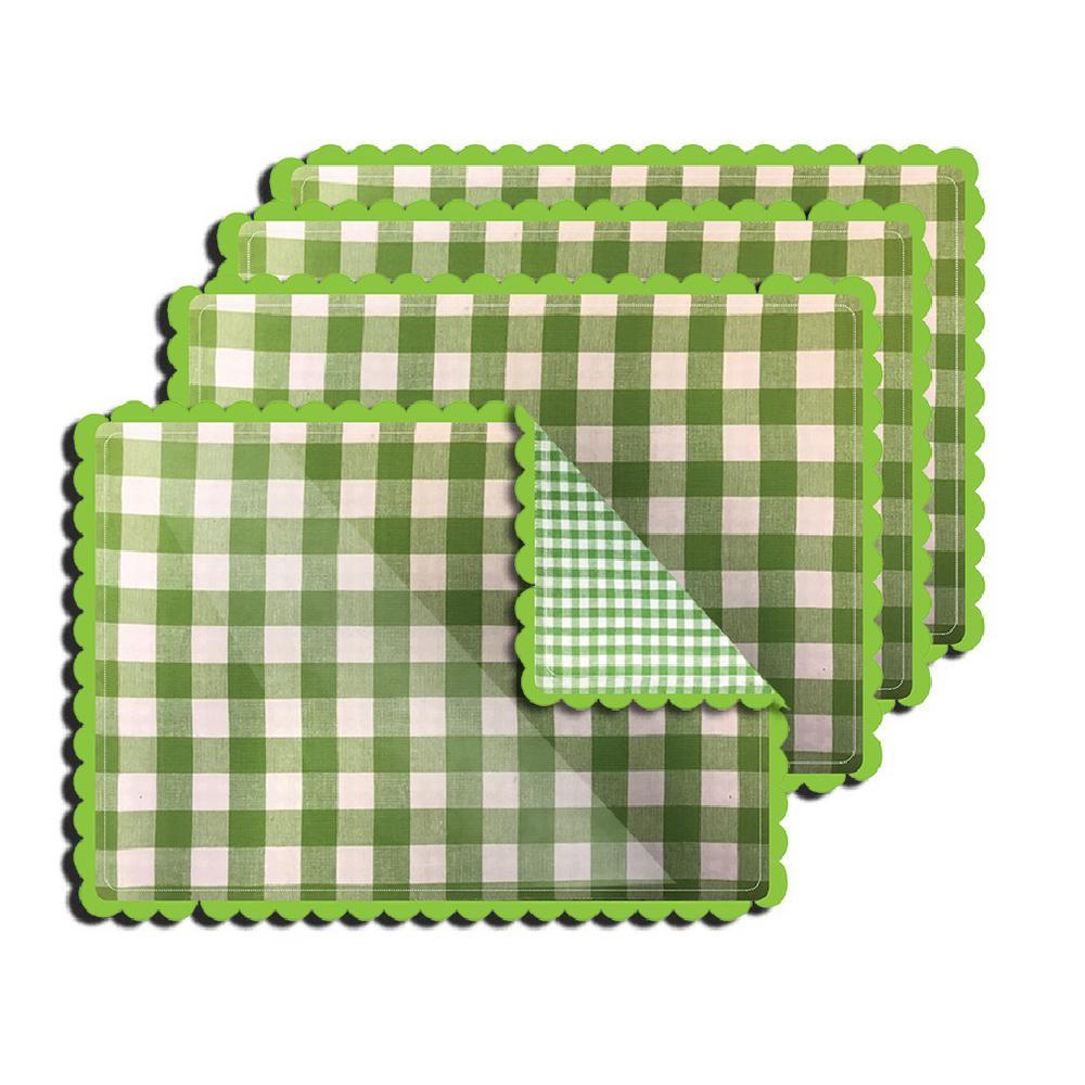 Lintex Buffalo Check Green Reversible Placemat (Set of 4) by Lintex
