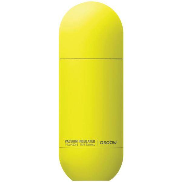 14 oz. Stainless Steel Yellow Orb Water Bottle