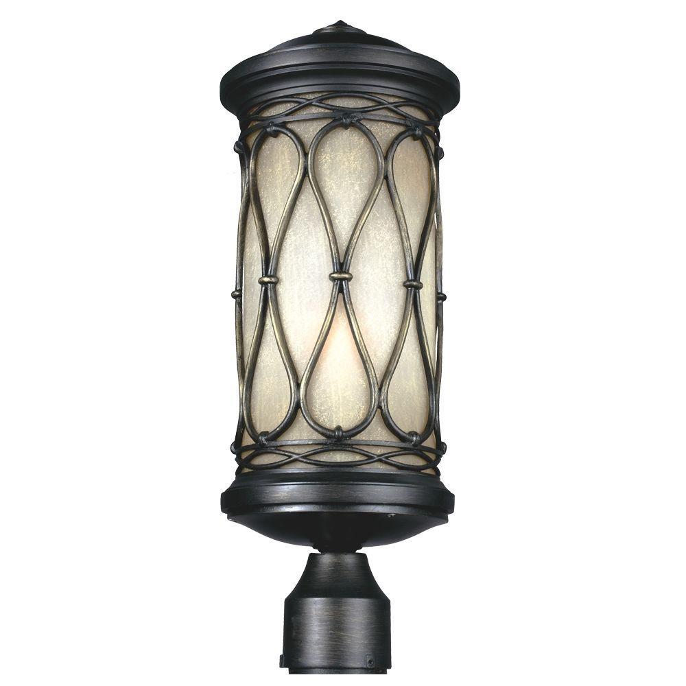 Wellfleet 1-Light Aged Bronze Outdoor Post Top Light