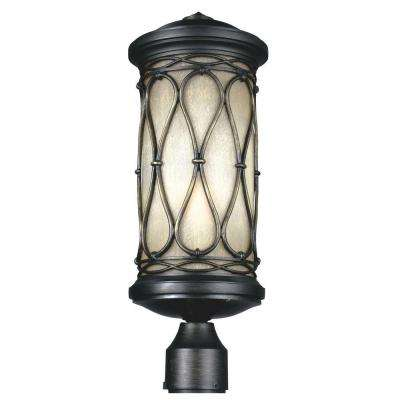 Wellfleet 1-Light Aged Bronze Outdoor Post Top Light