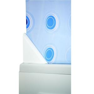 Croydex Shower Curtain Drip Guard Clip in White Minimizes Water Leakage by Croydex