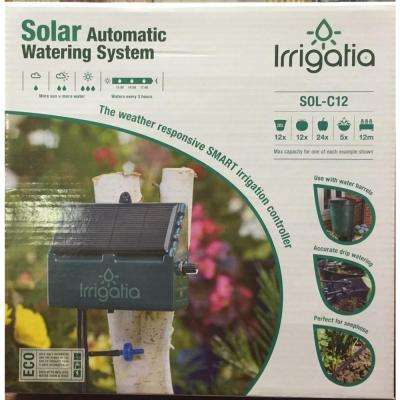 Rain Barrel 12 Irrigation Unit Solar Automatic Watering System Kit