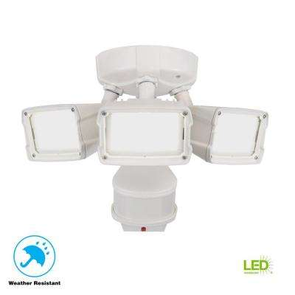 270 Degree White Doppler Motion Activated Outdoor LED Security Flood Light