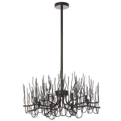 Sparta 8-Light 24 in. Espresso Chandelier