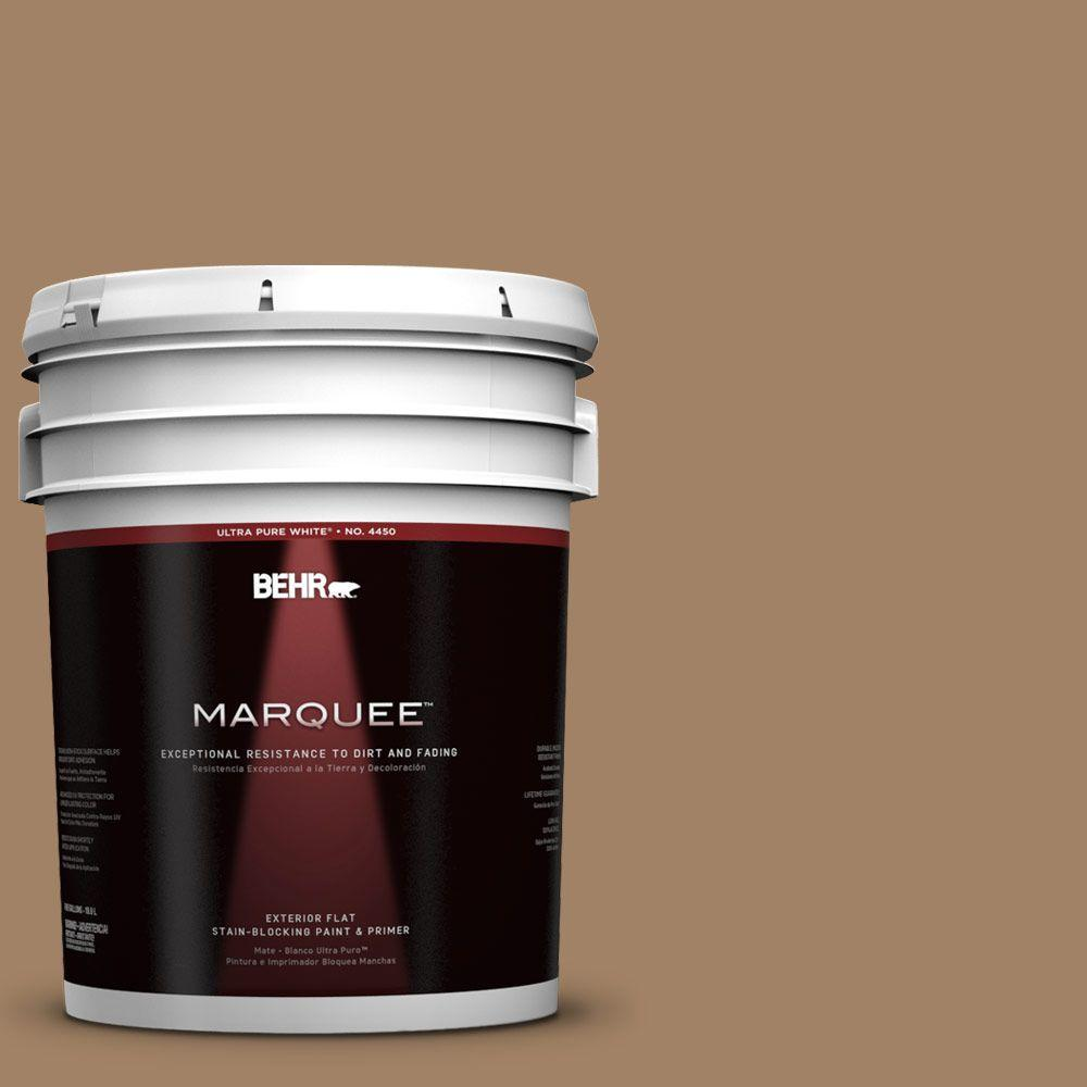 5-gal. #280F-5 New Chestnut Flat Exterior Paint