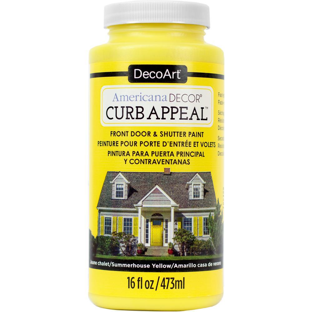 Americana Decor Curb Appeal 16 oz. Summerhouse Yellow Pai...