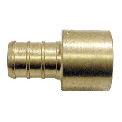 1/2 in. Brass PEX Barb x 1/2 in. Female Copper Sweat Adapter (10-Pack)