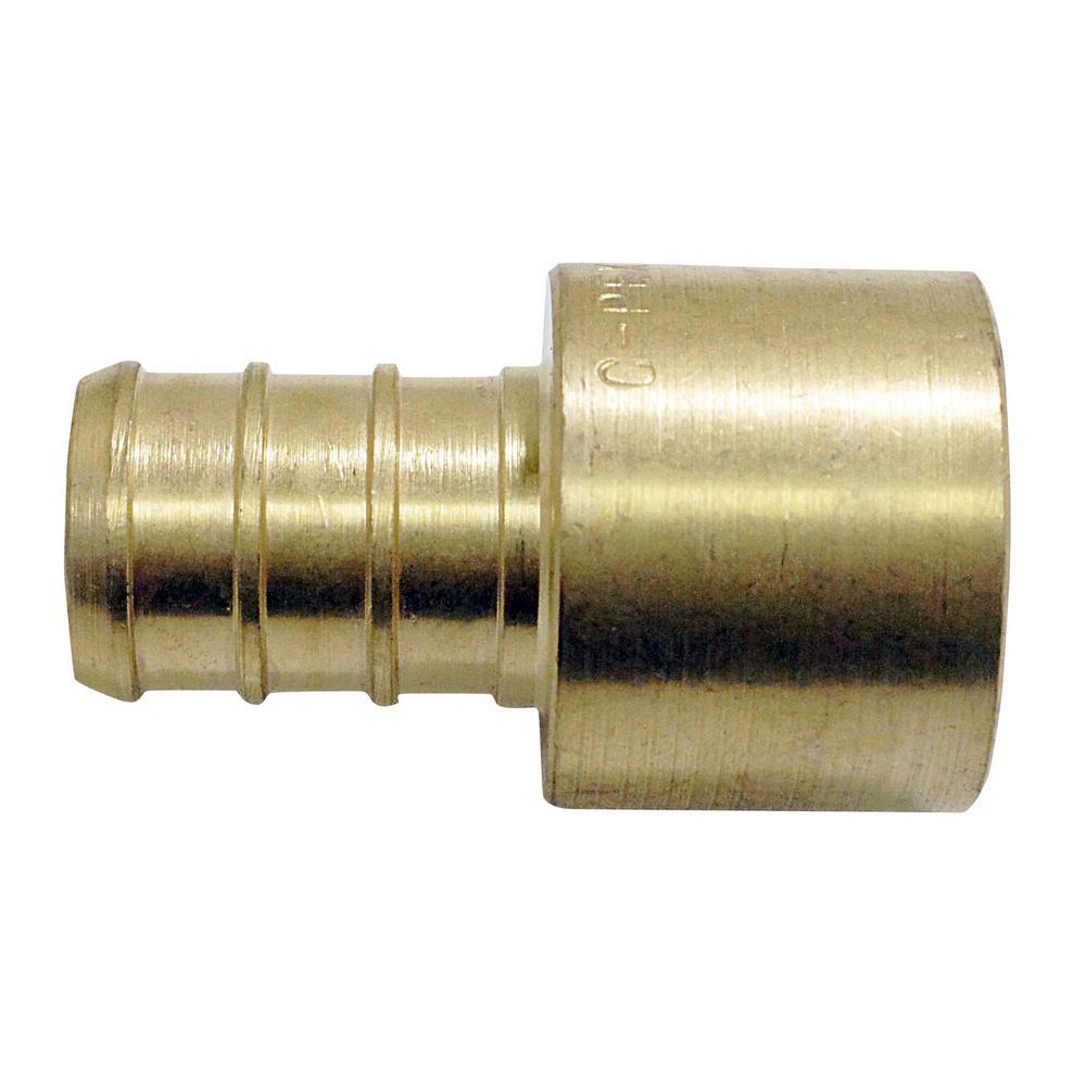 1/2 in. Brass PEX Barb x 1/2 in. Female Copper Sweat Adapter (10-Pack)