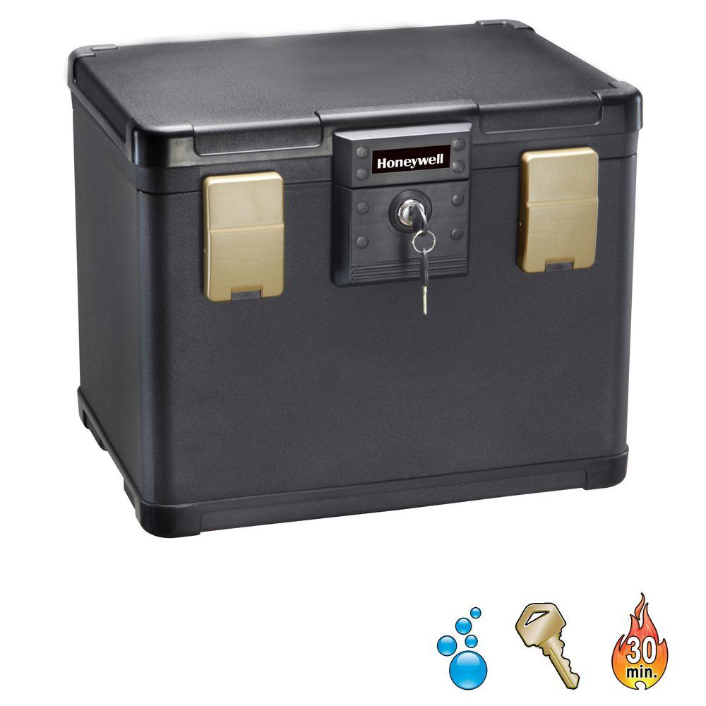 0.64 cu. ft. Molded Fire/Water Chest with Key and Double Latch