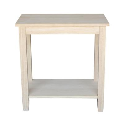 Solano Unfinished Accent Table