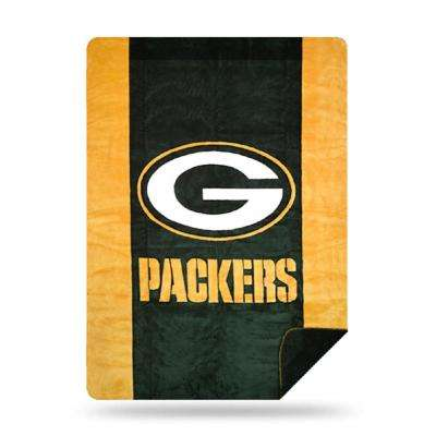 Packers Multi Color Acrylic Sliver Knit Throw