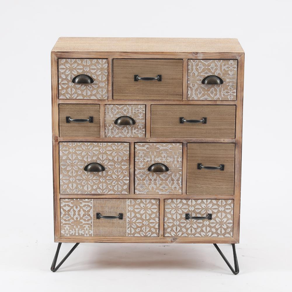 Metal & Wood Multi-Storage Cabinet