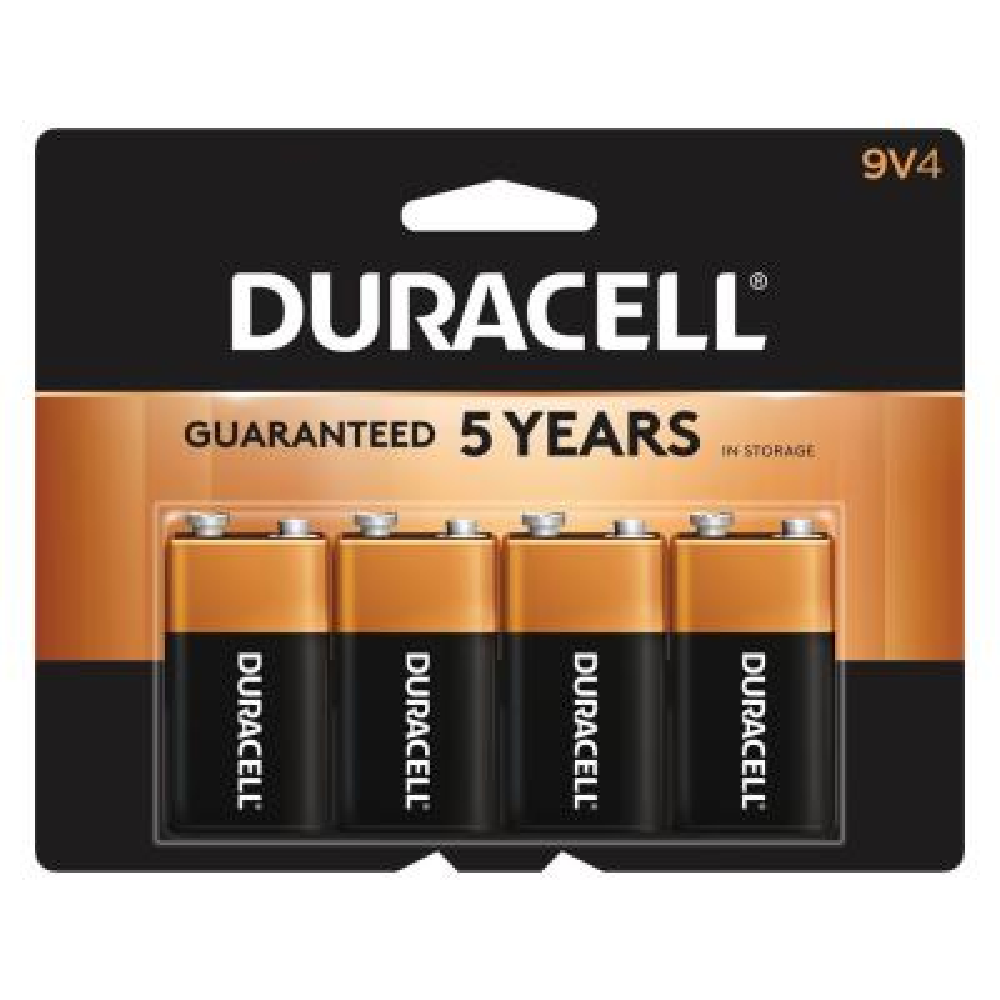 9-Volt Coppertop Alkaline Batteries (4-Pack)