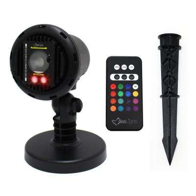 Red Laser with Integrated 16-Color LED Flood Landscape Light