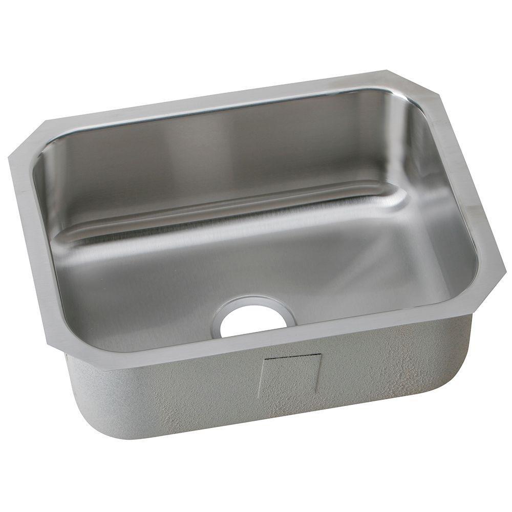 Avenue Undermount Stainless Steel 24 in. Single Bowl Kitchen Sink