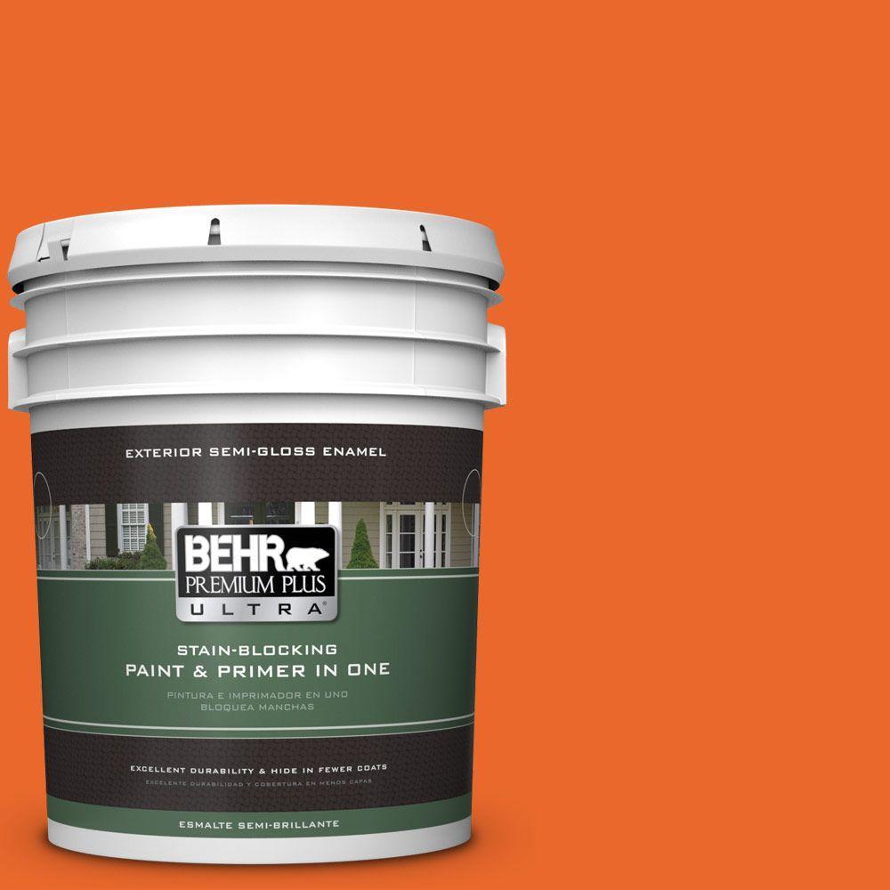 5-gal. #220B-7 Electric Orange Semi-Gloss Enamel Exterior Paint