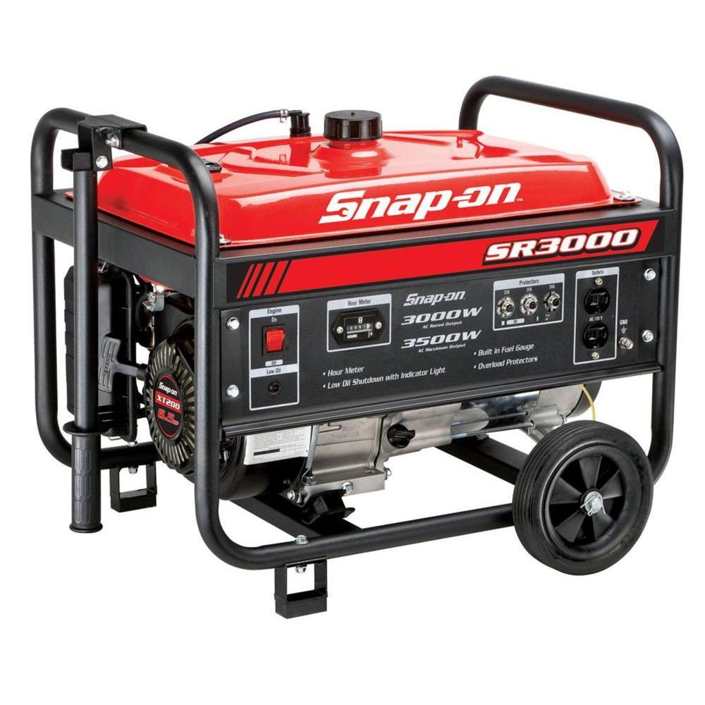 Snap-on 3,000-Watt Gasoline Powered Portable Generator