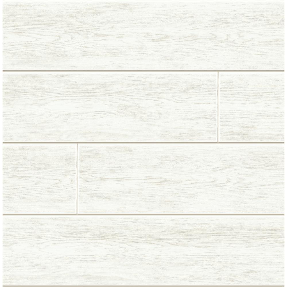 NextWall Off-White Shiplap Peel and Stick Wallpaper ...
