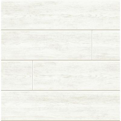 Shiplap Vinyl Peelable Wallpaper (Covers 30.75 sq. ft.)