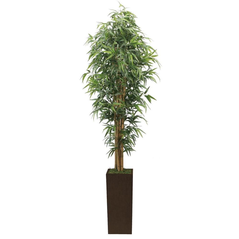 7 ft. Tall High End Realistic Silk Bamboo Tree with Brown