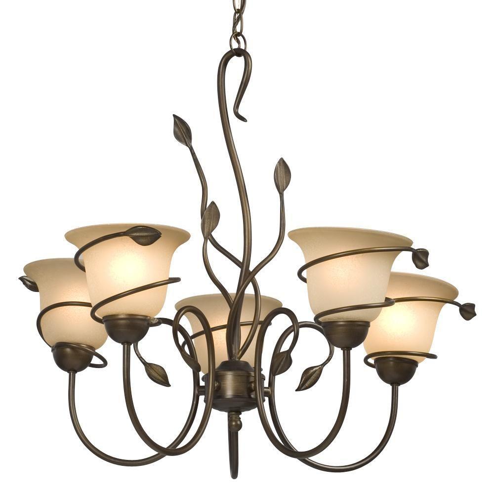 Filament Design Negron 5-Light Vintage Bronze Incandescent Chandelier