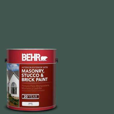 1 gal. #S420-7 Secluded Woods Satin Interior/Exterior Masonry, Stucco and Brick Paint
