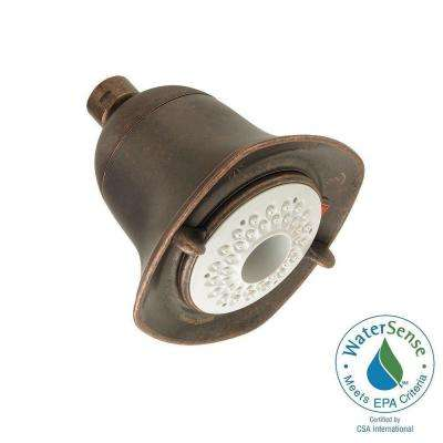 FloWise Square Water-Saving 3-Spray 4.625 in. Showerhead in Oil Rubbed Bronze