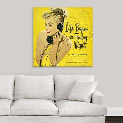 """""""Life Begins On Friday Night"""" by Great BIG Canvas Canvas Wall Art"""
