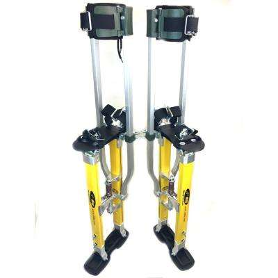SurPro 15 in. to 23 in. Adjustable Height Dual Legs Support Magnesium Drywall Stilts