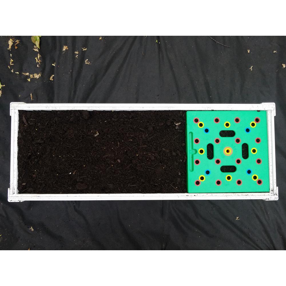 1 ft. x 3 ft. Square Foot Design Stack-Able White Vinyl Raised Garden Bed Kit