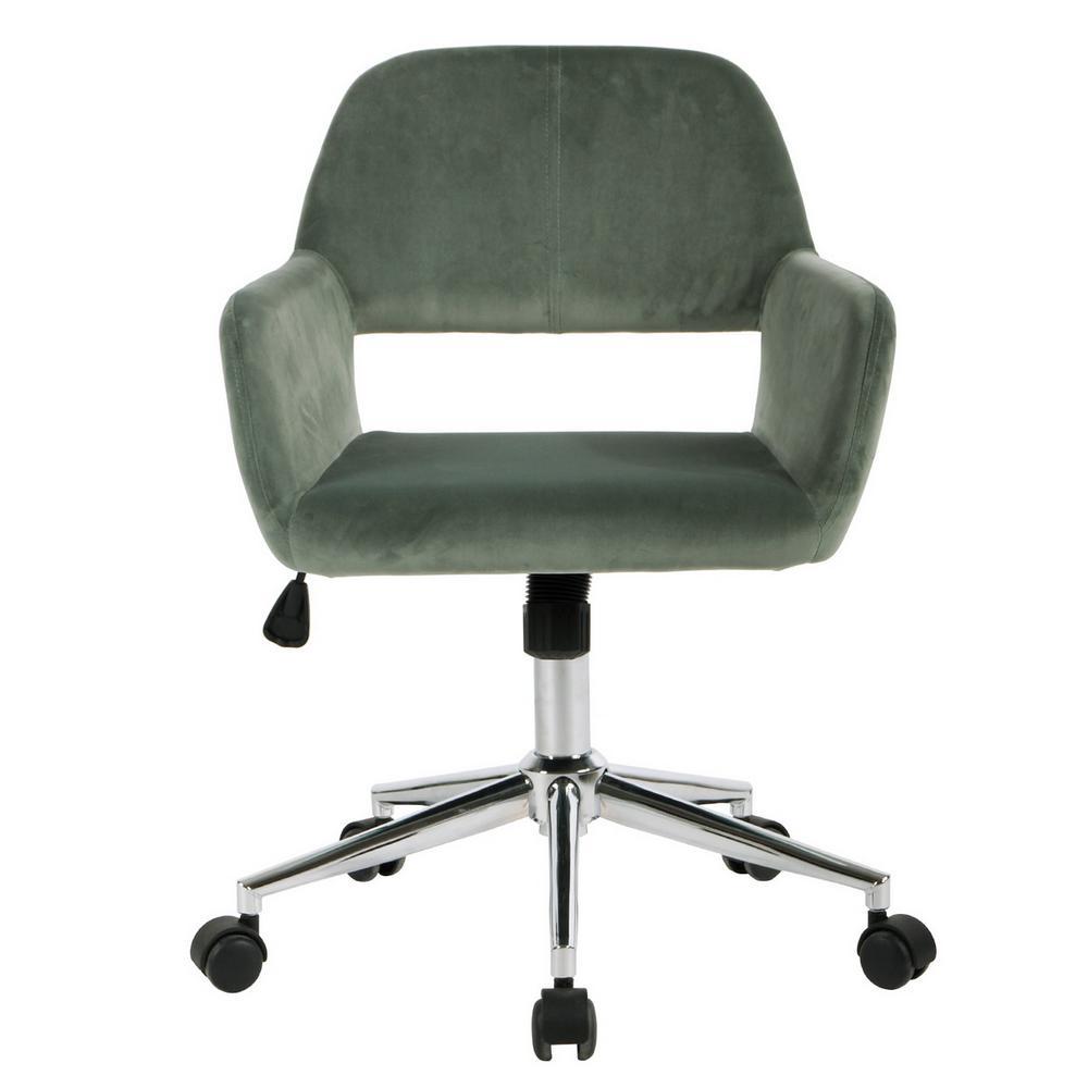 Ross Green Velvet Home Task Chair