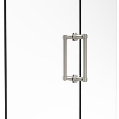 Contemporary 8 in. Back-to-Back Shower Door Pull in Polished Nickel