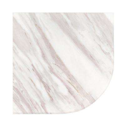 Steambath White 7.625 in. x 7.625 in. Glossy Natural Stone Wall Mount Corner Shelf Tile