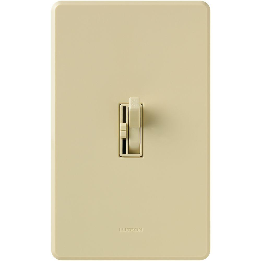Lutron Toggler 1.5-Amp Single-Pole/3-Way Quiet 3-Speed Slide-To-Off Fan Control- Ivory