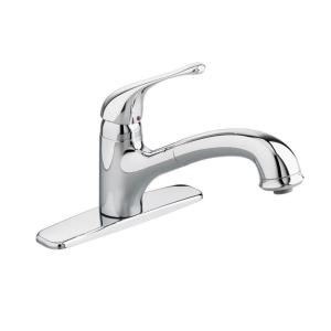 Perfect Colony Soft Single Handle Pull Out Sprayer Kitchen Faucet In Polished  Chrome · American Standard ...