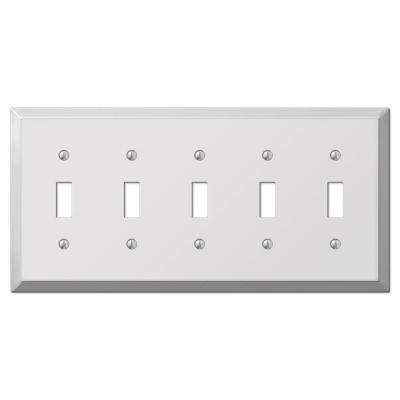 Century 5 Toggle Wall Plate - Chrome