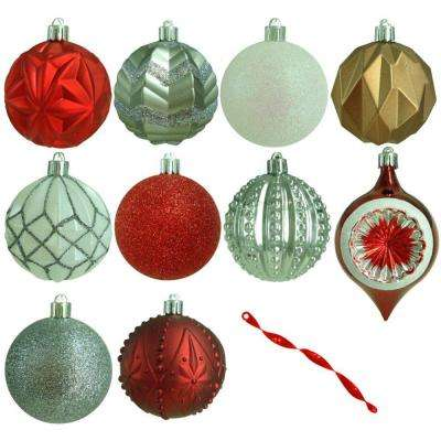 3 in. Winter Tidings Shatter-Resistant Ornament (75-Count)