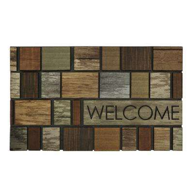 Boxed Driftwood Multi 18 in. x 30 in. Door Mat